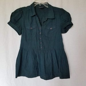 French Connection Peplum blouse top size 8